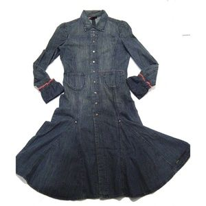 Diesel Denim Midi Light/Fall Swing Coat Retro